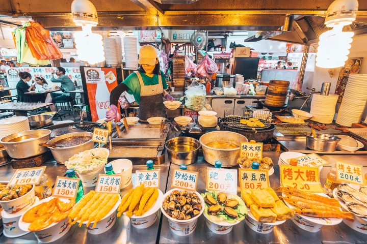 The Shilin Night Market in Taipei