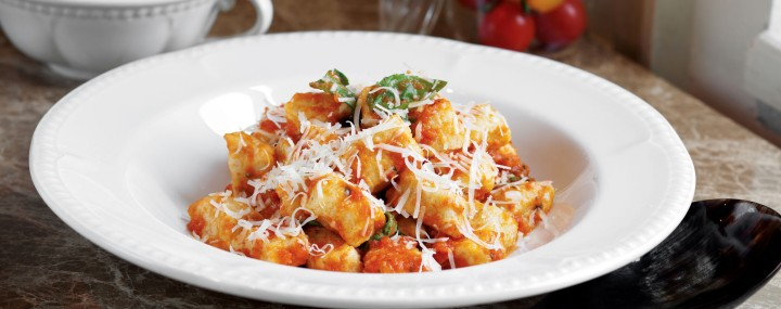 Gnocchi with Sauce and parmesan